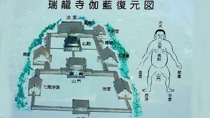 瑞龍寺伽藍復元図
