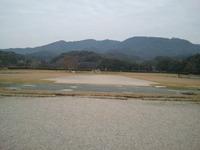 太宰府政庁跡(北方の山々)