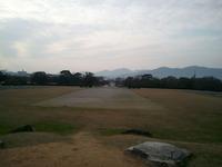 太宰府政庁跡(南方の案山朝山)