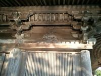 五大堂の猿彫刻