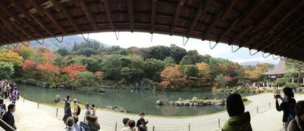 7天龍寺境内の曹源池庭園