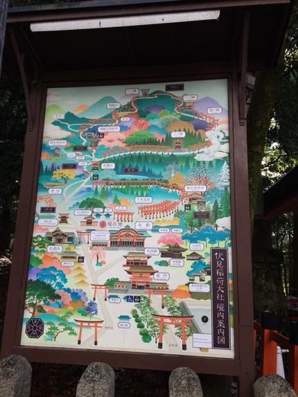 伏見稲荷境内MAP