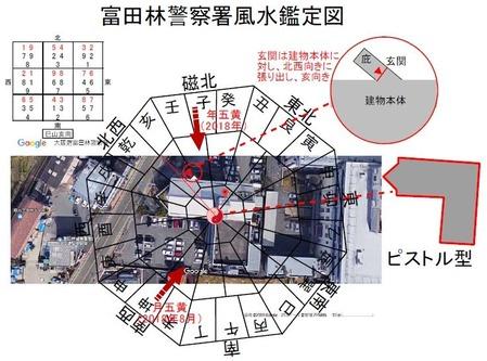 富田林警察署周辺風水鑑定図