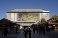 屋根葺き替え工事中の浅草寺