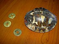 29 道教寺院で道士が使用していた亀甲と古銭