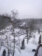 草津ナウリゾートホテル 部屋からの雪景色