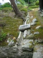 池の水が流れ出る北~東北への水路(閉鎖中)